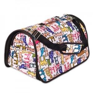 쏘아베 타원형 가방-중(회색,핑크 색상랜덤) 강아지이동장 이동가방