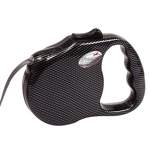 프리고 패션 자동줄미니(S) 3M 블랙카본 애견산책줄 강아지리드줄 애견 고양이 개줄