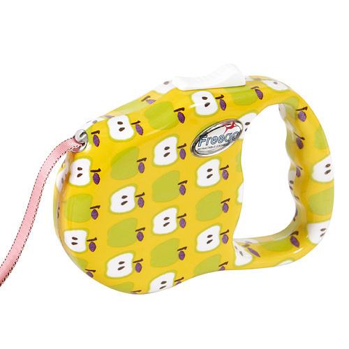 프리고 패션 자동줄미니(S) 3M 애플 애견산책줄 강아지리드줄 애견 고양이 개줄