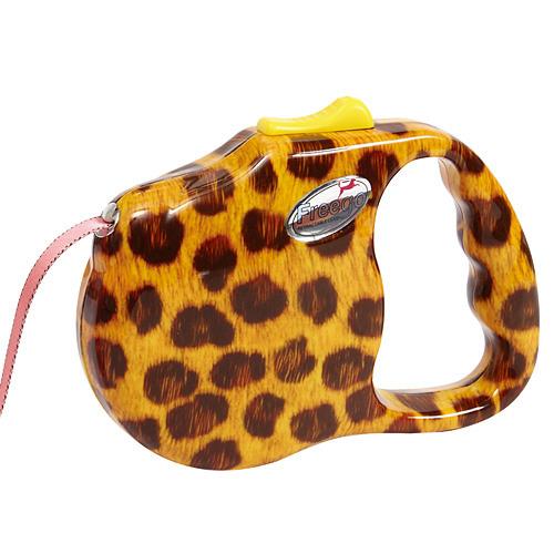 프리고 패션 자동줄(M) 3M 레오파드 애견산책줄 강아지리드줄 애견 고양이 개줄